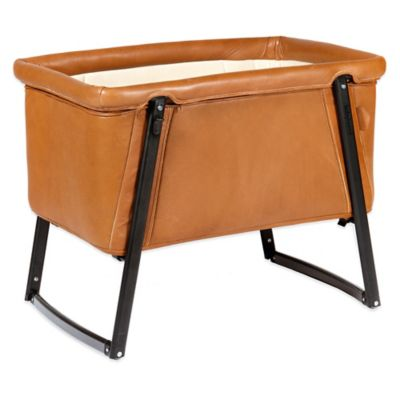 babyhome® Dream Premium Bassinet in Brown Leather