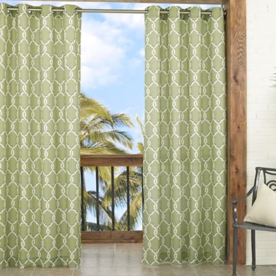 Parasol Totten Key Trellis 84-Inch Window Curtain Panel in Brown
