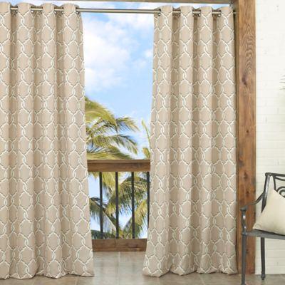Parasol Totten Key Trellis 84-Inch Window Curtain Panel in Tan