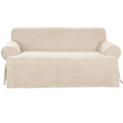 Sure Fit® Canvas CVC Sofa Slipcover in Hunter Green