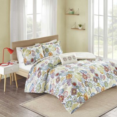 Mizone Tamil Reversible Full/Queen Comforter Set in Multi