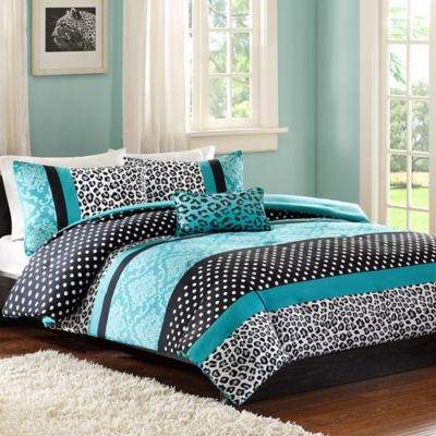 Mi Zone Chloe Twin/Twin XL Duvet Set in Teal