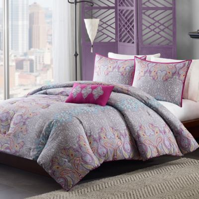 Mizone Keisha Twin/Twin XL Comforter Set in Grey