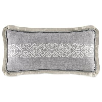 Croscill® Alita Fashion Boudoir Throw Pillow in Silver