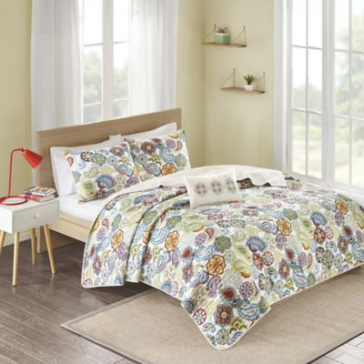 Mizone Tamil Reversible Full/Queen Coverlet Set in Multi