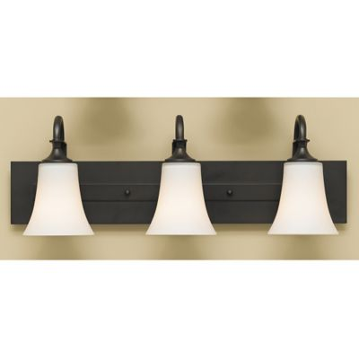 Feiss® Barrington 3-Light Wall-Mount Vanity Light in Oil Rubbed Bronze
