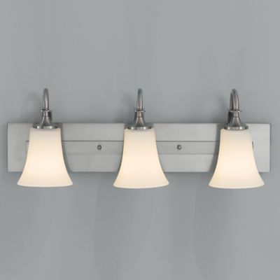 Feiss® Barrington 3-Light Wall-Mount Vanity Light in Brushed Steel