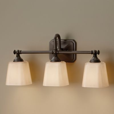 Feiss® Concord 3-Light Wall-Mount Vanity Light in Brushed Steel