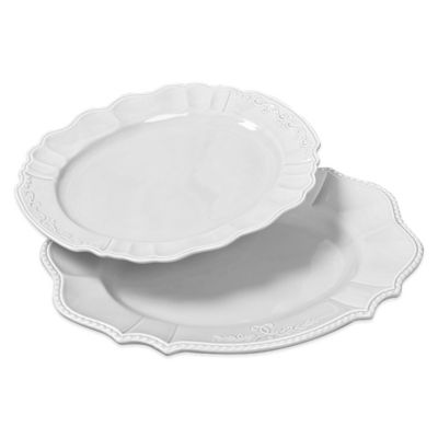 Tabletops Unlimited® Gallery Le Provence 2-Piece Oval Serving Platter Set in White