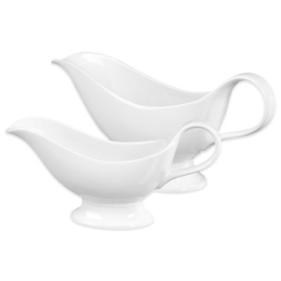 Tabletops Unlimited® Denmark Tools for Cooks® Oven to Table 2-Piece Gravy Boat Set