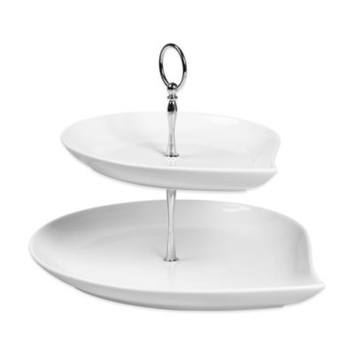 Tabletops Unlimited® Denmark Tools for Cooks® Oven to Table 2-Tier Teardrop Tidbit Server