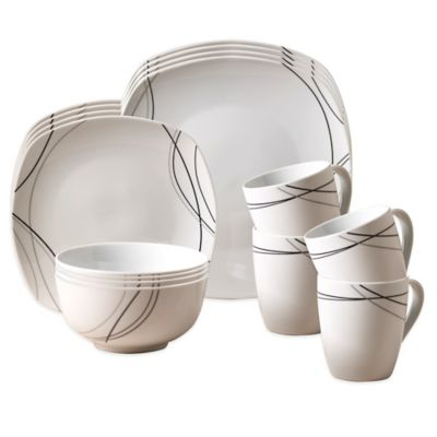 Tabletops Unlimited® Alex 16-Piece Dinnerware Set
