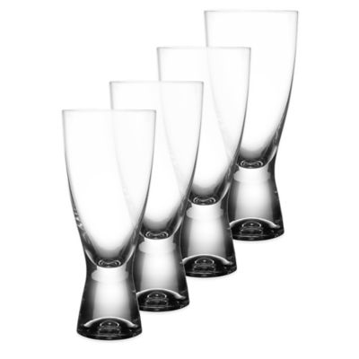 Fitz and Floyd® Gina Pilsner Glasses (Set of 4)