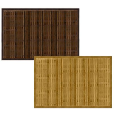 Bamboo 4-Foot x 6-Foot Floor Mat in Brown
