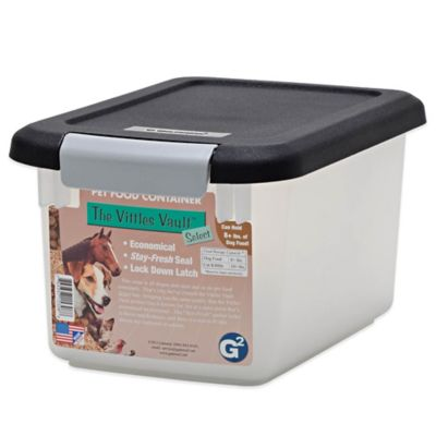 Black White Pet Food Container