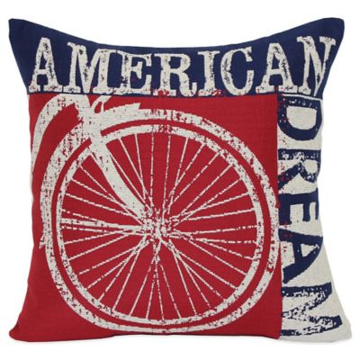 American Dream Square Throw Pillow in Multi