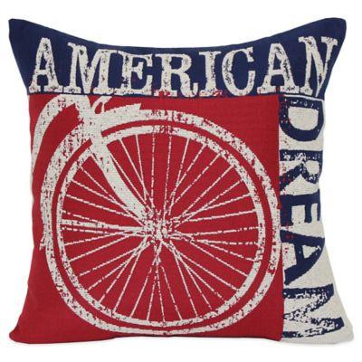 American Dream Square Throw Pillow in Multi