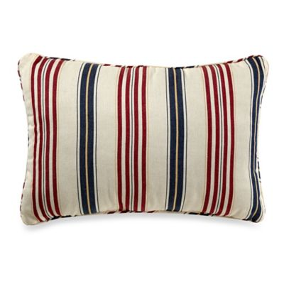 Regatta Stripe Oblong Throw Pillow in Multi