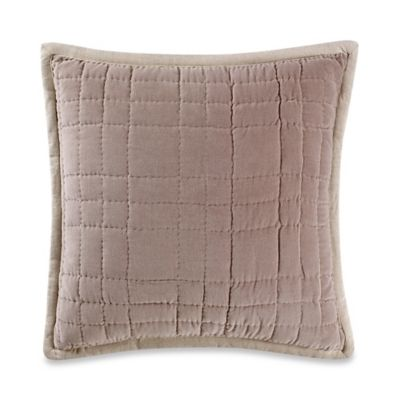 Boston Square Throw Pillow in Taupe