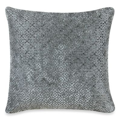 Clover Square Throw Pillow in Grey