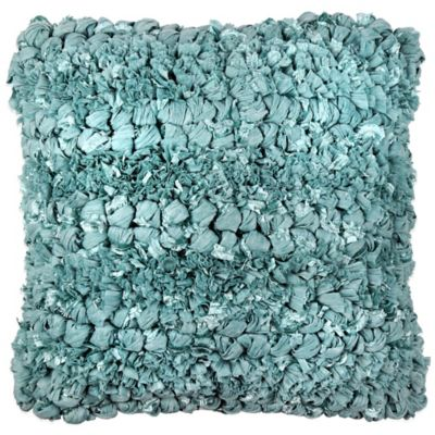 Jalendu Square Throw Pillow in Aqua