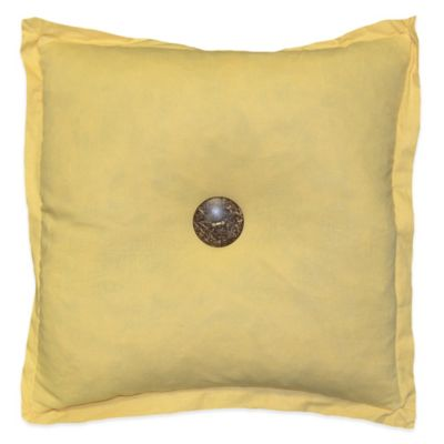 Murano Square Throw Pillow in Yellow