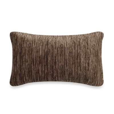 Water Stripe Oblong Throw Pillow in Brown