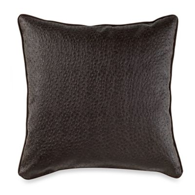 Denver Square Throw Pillow in Brown