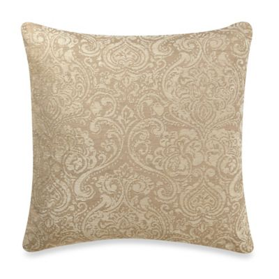 Diara Square Throw Pillow in Ivory