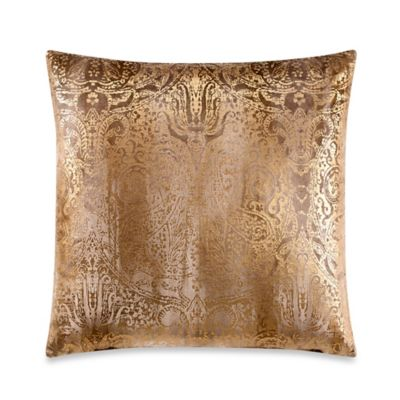 Solera Square Throw Pillow in Gold