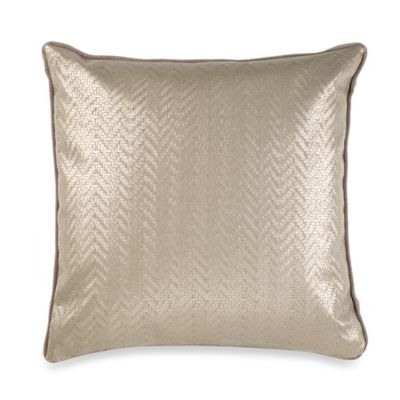 Vetty Square Throw Pillow in Taupe