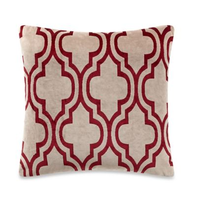 Champlain Square Throw Pillow in Gold