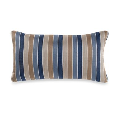 Guide Stripe Oblong Throw Pillow in Yellow/Blue