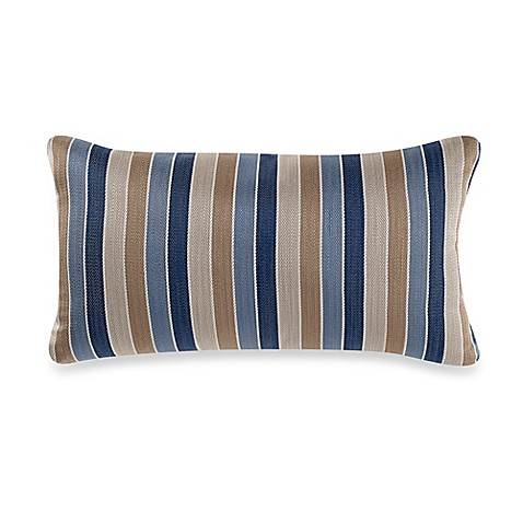 Decorative Pillow Guide : Buy Guide Stripe Oblong Throw Pillow in Yellow/Blue from Bed Bath & Beyond