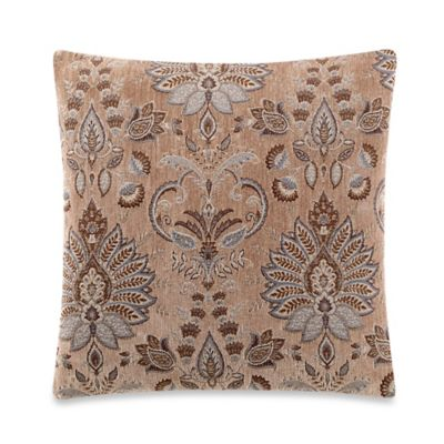 Hampshire Square Throw Pillow in Taupe