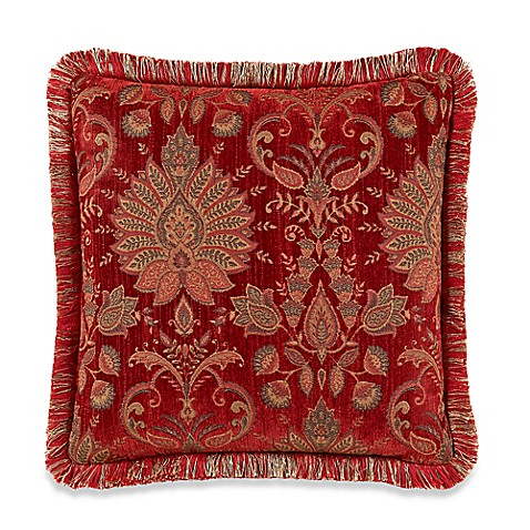 Red Throw Pillows For Bed : Heritage Square Throw Pillow in Red - Bed Bath & Beyond