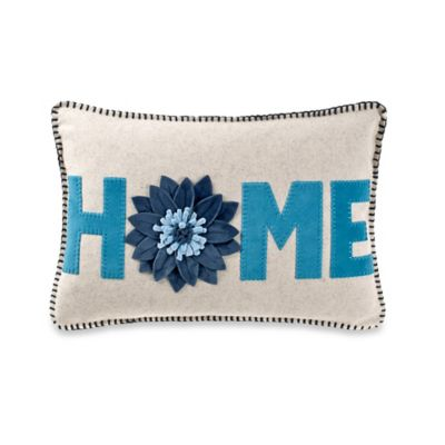 Home Oblong Throw Pillow in Teal
