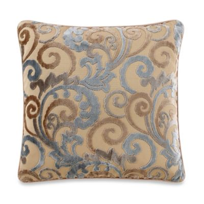 Lenora Square Throw Pillow in Blue