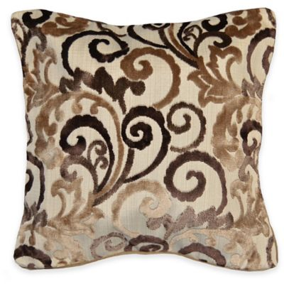 Lenora Square Throw Pillow in Brown