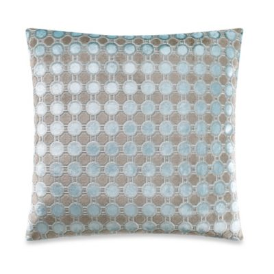 Octavia Square Throw Pillow in Blue