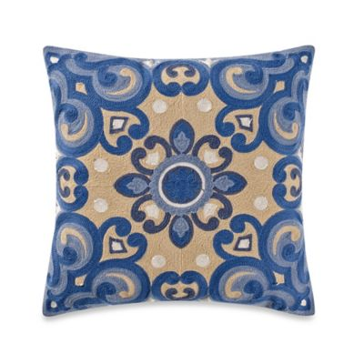 Provence Square Throw Pillow in Yellow/Blue