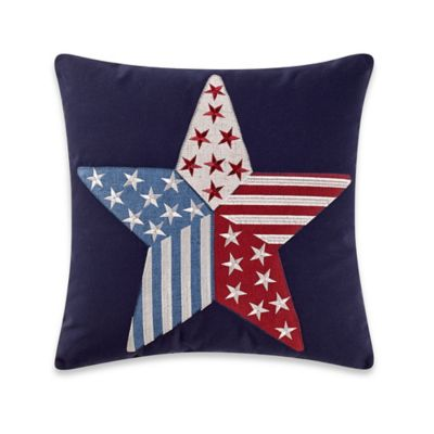 Star Spangled Square Throw Pillow