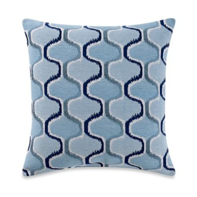 Stoneham Square Throw Pillow in Aqua