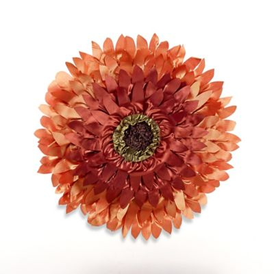 Sunflower Round Throw Pillow in Coral