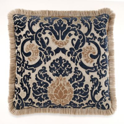 Azorin Square Throw Pillow in Navy