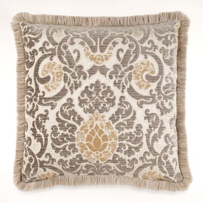 Azorin Square Throw Pillow in Taupe