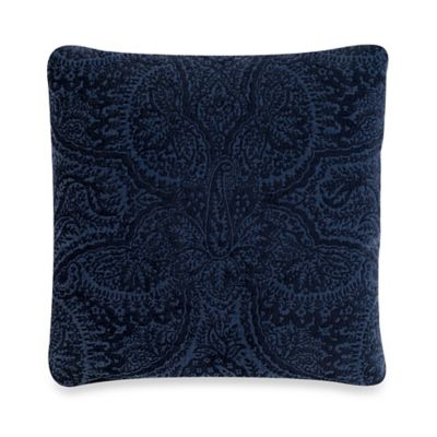 Rondeaux Square Throw Pillow in Navy