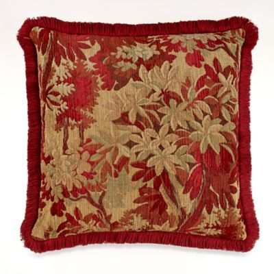 Sagamore Square Throw Pillow in Red