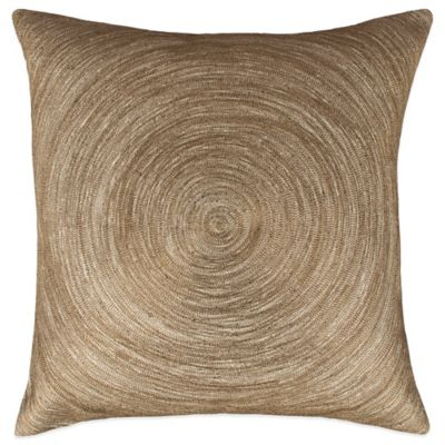 Austin Horn Classics Spiral Embroidery Square Throw Pillow in Bronze