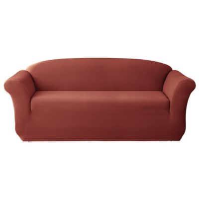 Sure Fit® Stretch Lattice Sofa Slipcover in Claret